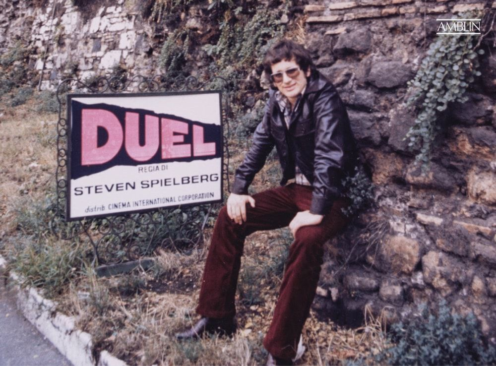 A proud young filmmaker, opening his first feature-length movie, on his first time visiting Europe, seen here in Italy in 1972.